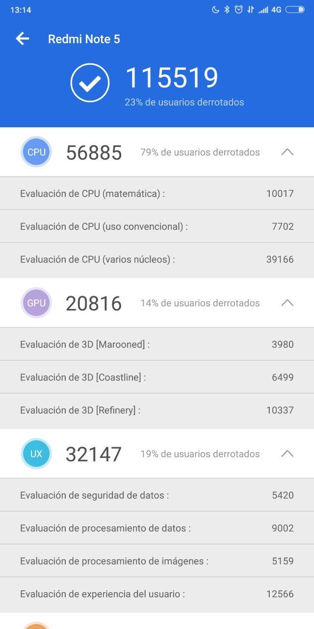 Foto de Benchmarks del Xiaomi Redmi Note 5 (1/6)