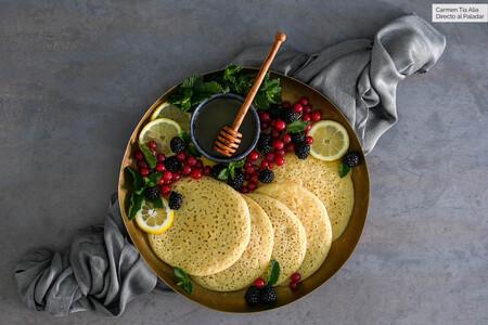 Baghrir o crêpes de los mil agujeros