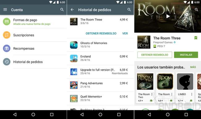 Devolución Google® Play