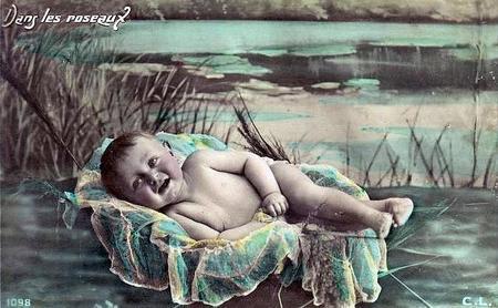 Bebé en canastilla