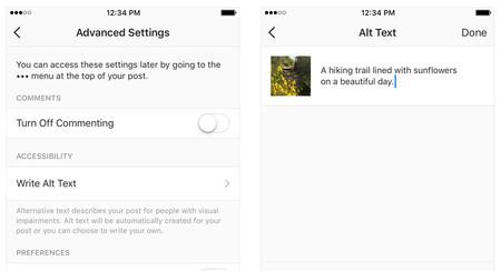 Instagram, más accesible: añade descripciones de texto generadas automática o manualmente