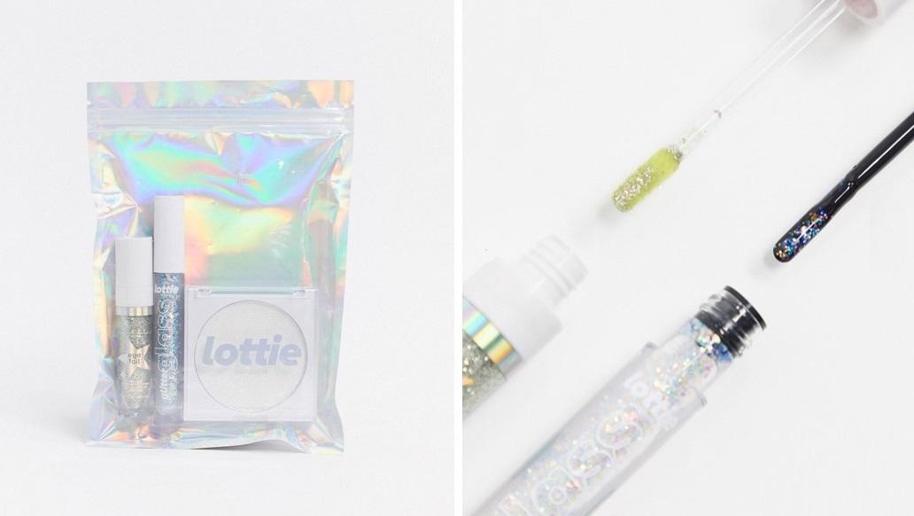 Set glitter para ojos, labios y mejillas de Lottie London