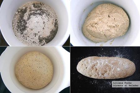 Pan de centeno fácil. Receta de panadería. Pasos