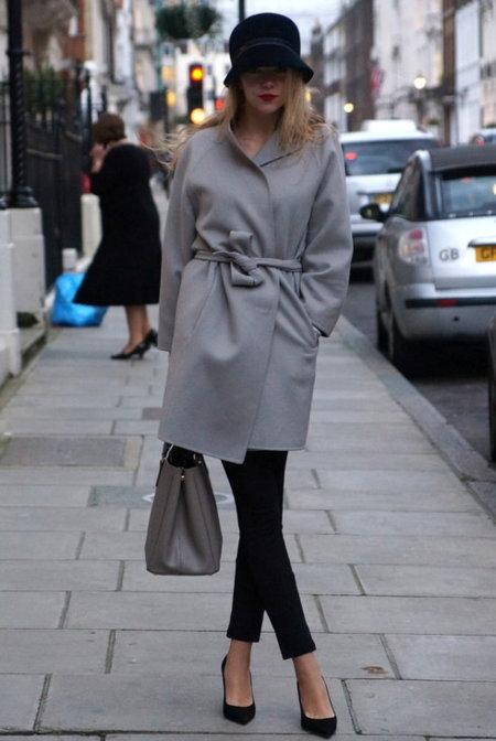 abrigo gris batin