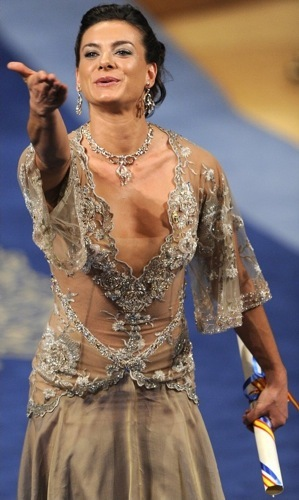 El polémico vestido de Yelena Isinbayeva en los Príncipe de Asturias
