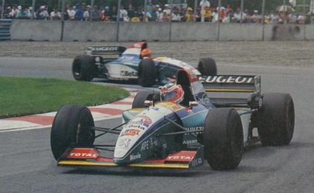 Rubens Barrichello Eddie Irvine Montreal 1995