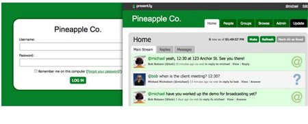 Present.ly, otro servicio de microbbloging para empresas