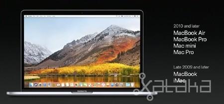 Actualización de MacOS High Sierra