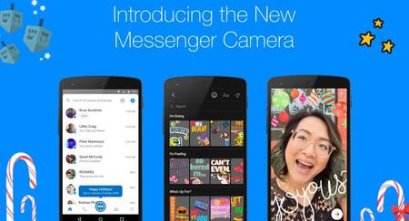 Facebook Messenger mejora su cámara con efectos, stickers, máscaras, marcos y textos