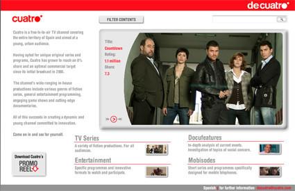 Cuatro se vende en Internet
