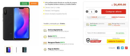 Xiaomi Mi A2 Lite Mexico Preventa Elektra