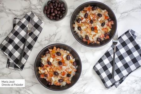 Esqueixada de bacalao: receta de ensalada fácil y deliciosa para los días de verano