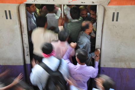 Subiendo al vagón en India