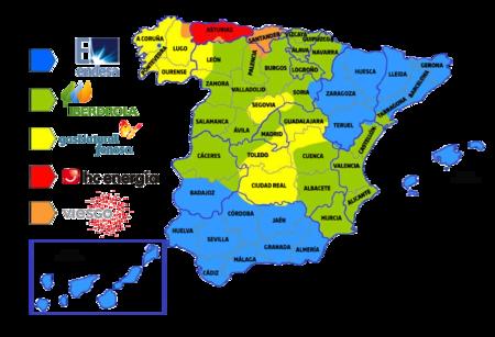 Mapa Distribuidoras Electricas