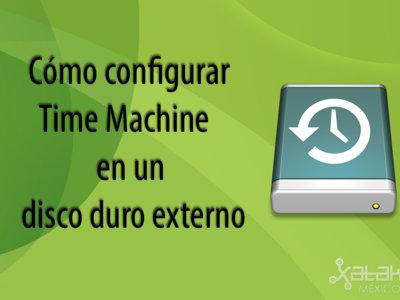 Cómo configurar Time Machine en un disco duro externo