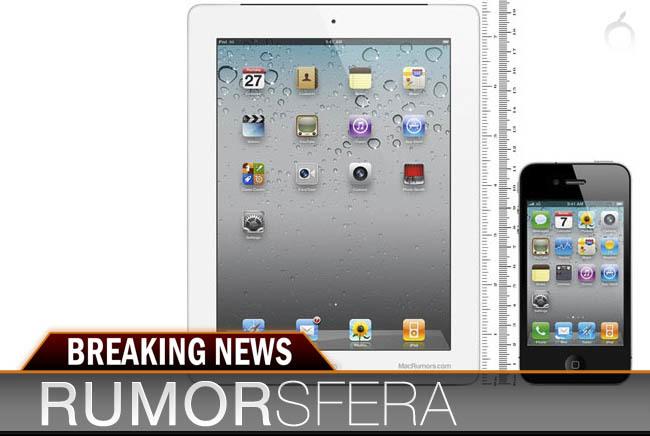 Imagen del aspecto que tendría el iPad de siete pulgadas