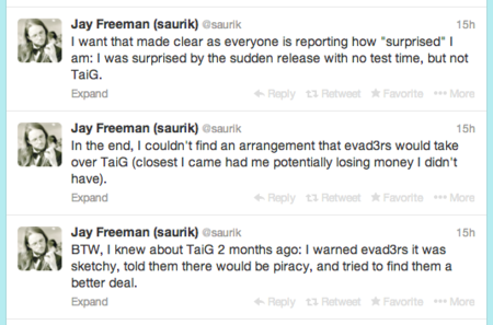 saurik tuits jailbreak ios 7 apple