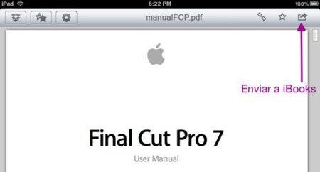 Cómo agregar documentos PDF a iBooks usando DropBox