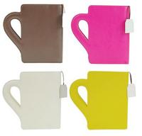 Una funda para libros con forma de taza de té, lo que siempre había soñado