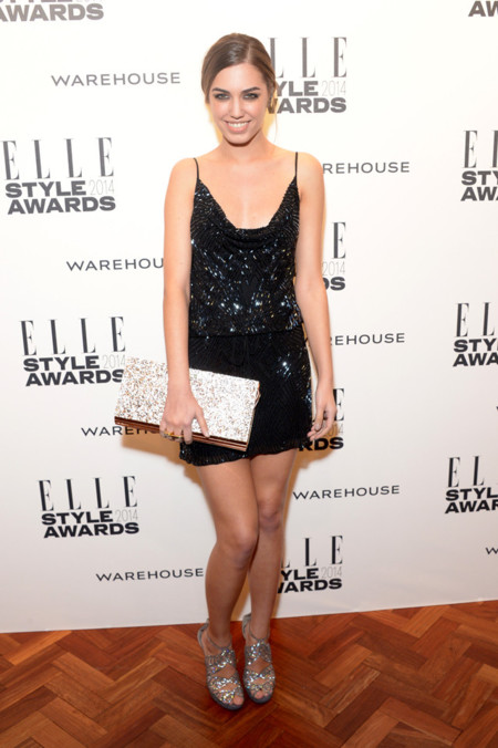 Amber Le Bon Elle Style Awards 2014 red carpet