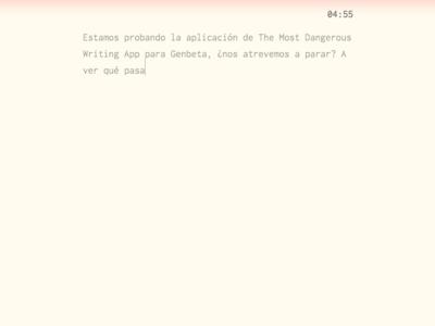 No te atrevas a parar: esta app borrará lo que has escrito si dejas de teclear