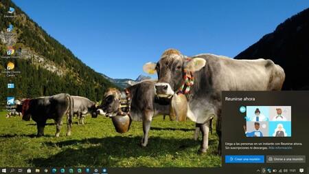 Ya puedes probar las videollamadas con Meet Now en un click si usas Windows 10 May 2019 Update con la última Build