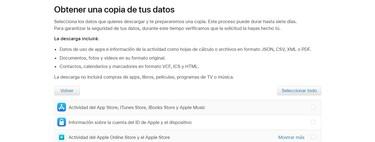 Cómo descargar todos los datos que Apple tiene sobre ti