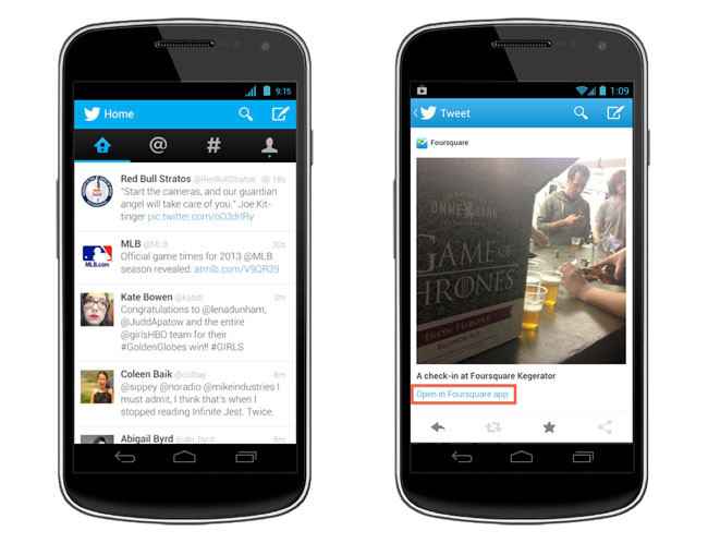 Twitter 4.0 para Android