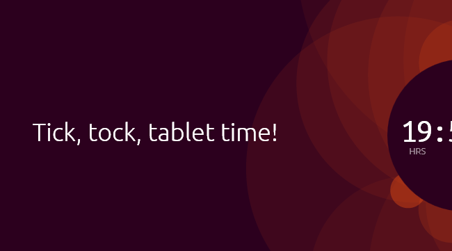Tick, tock, tablet time!