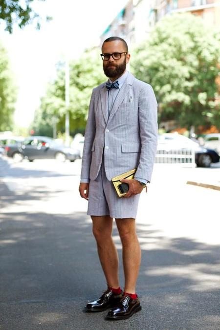 El Mejor Street Style De La Semana Combo Blazer Shors Bermudas Trendencias Hombre 04