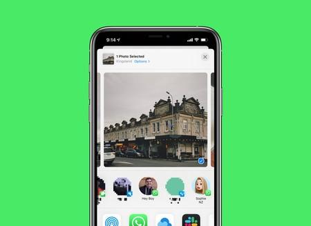 La última versión de WhatsApp integra los contactos de forma directa en el menú de compartir de iOS 13