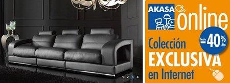 La tienda de muebles por internet Akasa nos ofrece descuentos de hasta el 40%