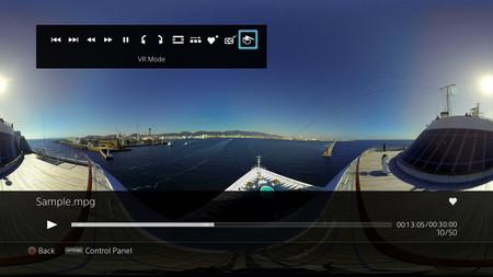 El reproductor multimedia de PS4 se actualiza para imágenes y vídeos en 360º con PSVR