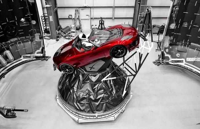 Spacex Tesla Roadster Falcon Heavy