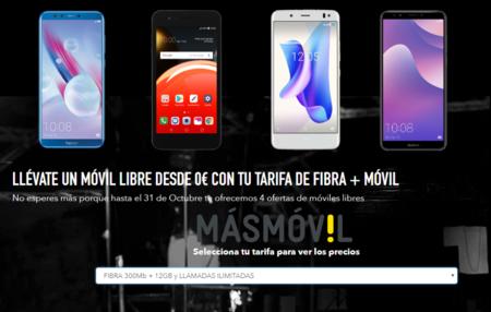 Los móviles gratis se hacen oficiales en MásMóvil: elige entre 4 smartphones si contratas fibra