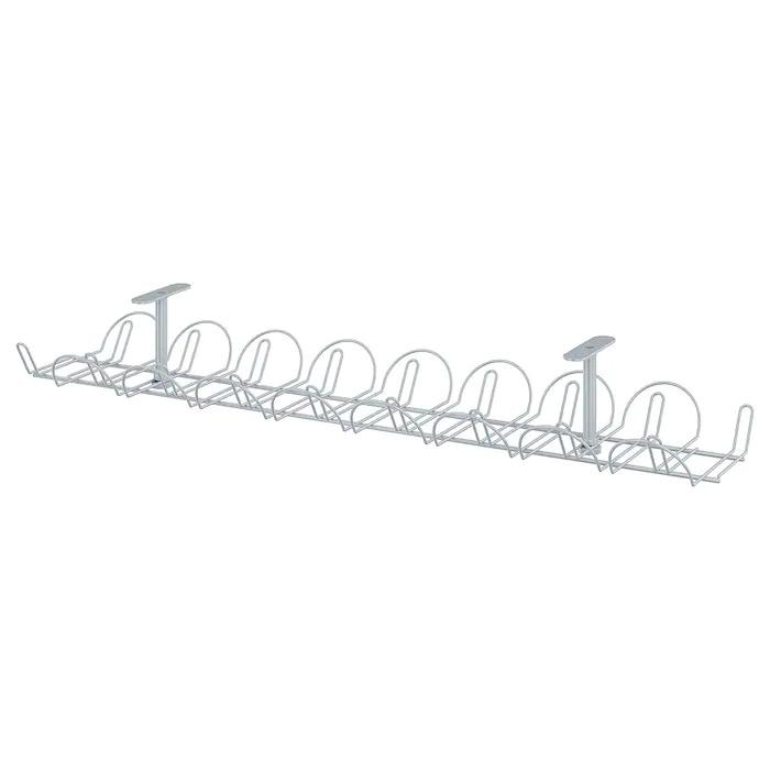 SIGNUM Regleta para cables horizontal, gris plata70 cm