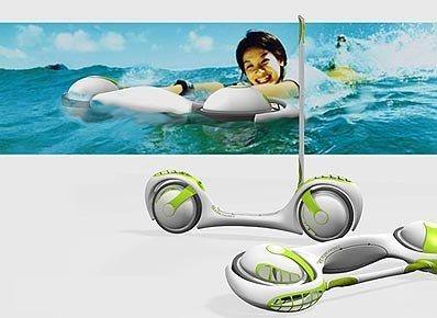 Skidscooter, por mar y tierra