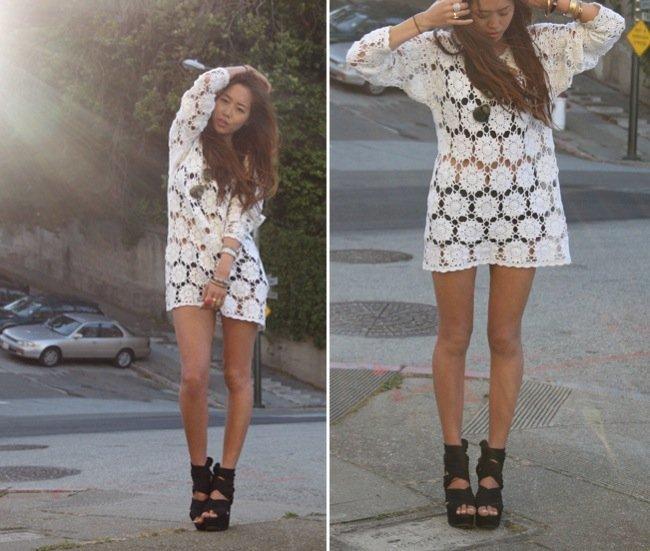 El encaje está de moda este verano 2010: cómpralo en Zara o Mango y aprende con los looks de calle IV