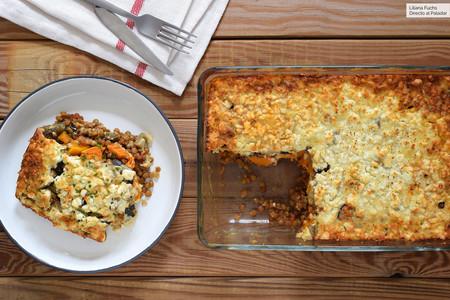 Moussaka Vegetariana De Lentejas Y Calabaza