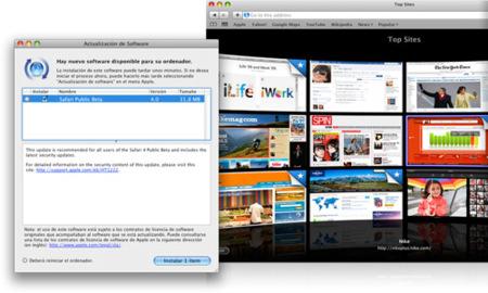 Actualización de software: Safari 3.2.3 y nueva beta de Safari 4