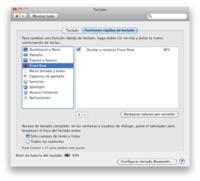 Elimina el acceso directo a Front Row desde el teclado