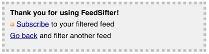 Feed Sifter