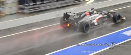 La lluvia termina la primera semana de pruebas en Barcelona