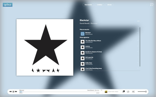 Qobuz Macbook Albumplayer Bowie Es