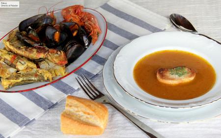 Sopa bullabesa o boullabeise, la sabrosa olla de pescado de Marsella, cuyo sabor ha conquistado al mundo