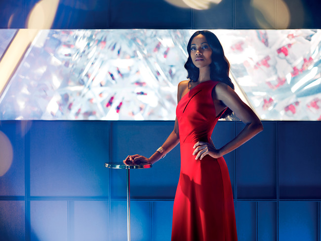 Lead Protagonist Mia Parc Played By Zoe Saldana In The Legend Of Red Hand Short Movie For Campari