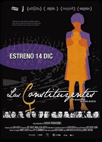 Imagen con el cartel de 'Los constituyentes'