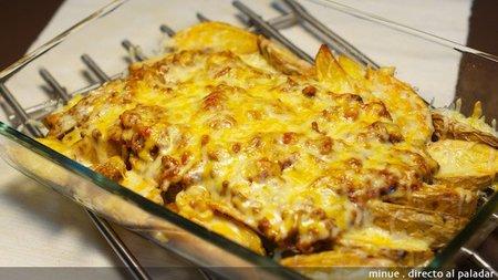 Receta de patatas a la boloñesa