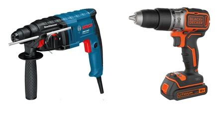 7 ofertas en taladros y martillos perforadores Black & Decker y Bosch Professional en la semana del Black Friday de Amazon