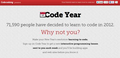 Cumple tu objetivo de aprender a programar en 2012 con Code Year